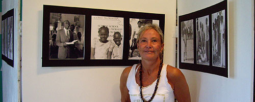 Siri White artist of  portraits of Middle Caicos